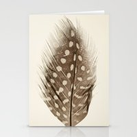 feather Stationery Cards featuring Feather by Mina Teslaru