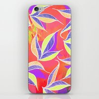 Colorful Falling Leaves  iPhone & iPod Skin