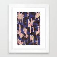 Paint Marks Camo Abstract Pattern Framed Art Print