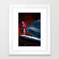 animals in space Framed Art Print
