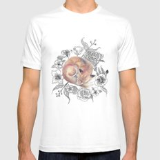 Fox and Flora Mens Fitted Tee SMALL White