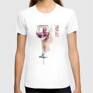 Wine Womens Fitted Tee White SMALL