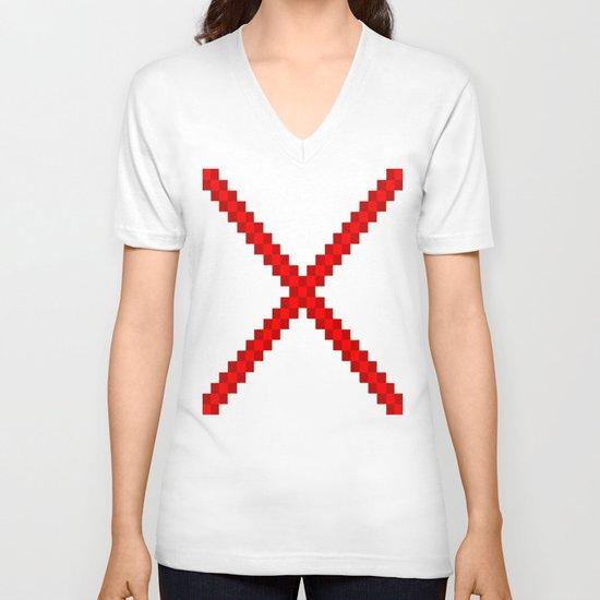 Fuzz Line #4 V-neck T-shirt