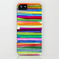 iPhone 5s & iPhone 5 Cases featuring Colorful Stripes 1 by Mareike Böhmer Graphics