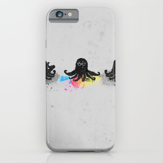 4-color squid iPhone & iPod Case
