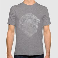Ray Charles Mens Fitted Tee Tri-Grey SMALL