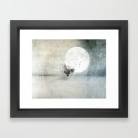 Only The Moon Knows Framed Art Print