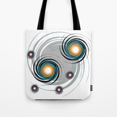 Spinning worlds Tote Bag
