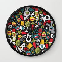 Ugly Christmas. Wall Clock