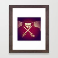 V for Vendetta4 Framed Art Print