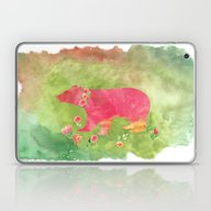 Baer  With Flowers I Laptop & iPad Skin