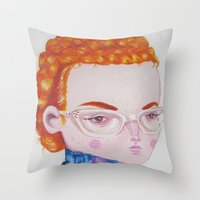 Recato/Demureness Throw Pillow
