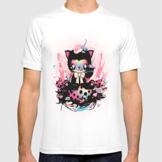 Lucky kitty SMALL Mens Fitted Tee White