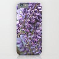 Spring Botanical -- Wisteria Lane, Boldly -- Floral Purple, Lavender and Orchid Landscape iPhone 6 Slim Case