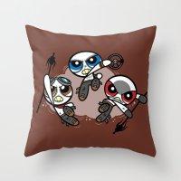 Power War Boys Throw Pillow