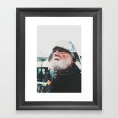 Man at the tram station, Goteborg, Sweden 2012 Framed Art Print
