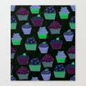 Cupcakes Curly Canvas Print