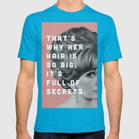 Full Of Secrets Mens Fitted Tee Teal SMALL
