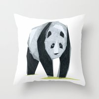 Felice Panda Throw Pillow