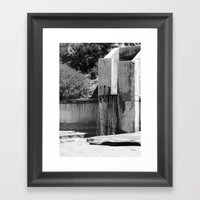 Runoff Waterfall Framed Art Print