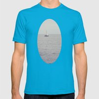 Sailboat Mens Fitted Tee Teal SMALL