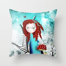 Dreaming Stars Paris Whimsical Night  Throw Pillow