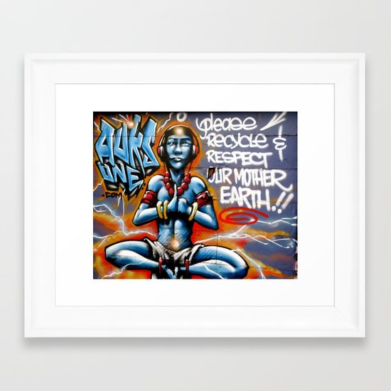 Mother Earth Recycles Framed Art Print