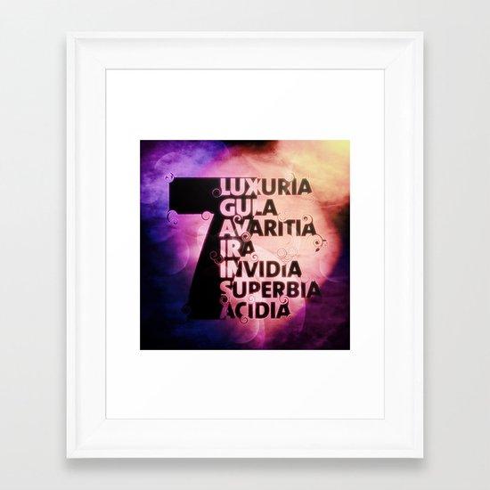 7ins Framed Art Print