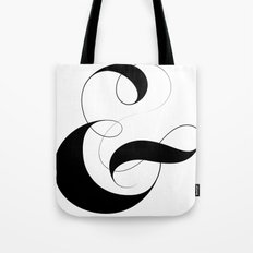 Ampersand - White Tote Bag