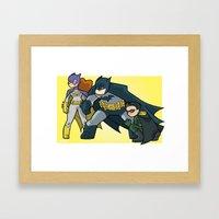 BatFambly Mini-Print Framed Art Print