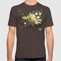 Honey Bee: Emerald Mens Fitted Tee Brown SMALL