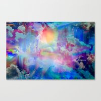 You Are entering a beautiful place called heaven  by Sherriofpalmsprings Canvas Print