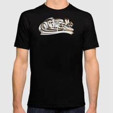 3D GRAFFITI - NO TIME SMALL Black Mens Fitted Tee
