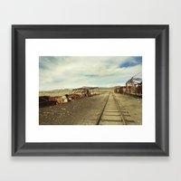 Forgotten Trains Framed Art Print