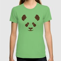 Panda Womens Fitted Tee Grass SMALL