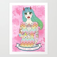 Little Girl Lost Art Print