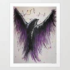 Royal Purple Soaring Bird Art Print