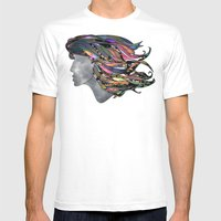 Her Natural Curls Mens Fitted Tee White SMALL