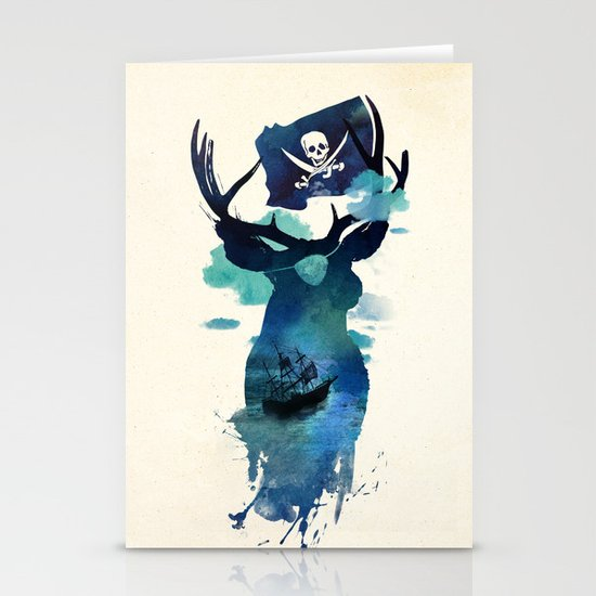 Captain Hook Stationery Card