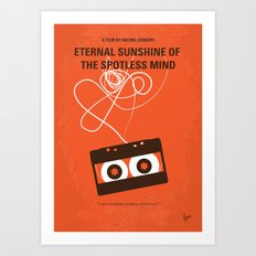 No384 My Eternal Sunshine of the Spotless Mind minimal movie poster Art Print