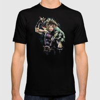 Hero of the Lifestream Mens Fitted Tee Black SMALL