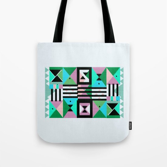 Blue Triangulation Tote Bag