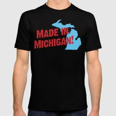 Made in Michigan Mens Fitted Tee Black SMALL