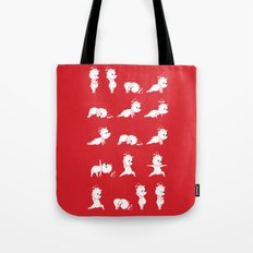 Yoga Bear - Polar Bear Tote Bag