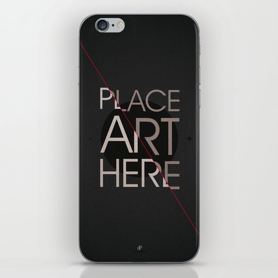 The Art Placeholder iPhone & iPod Skin