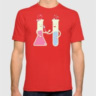 They Have Chemistry  Mens Fitted Tee Red SMALL