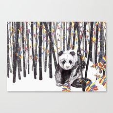 Panda Bear // Endangered Animals Canvas Print