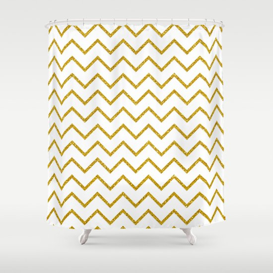 Curtain Styles For Living Rooms Gold Stripe Shower Curtain