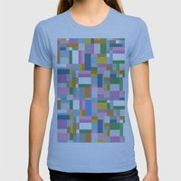 New Map #4 Womens Fitted Tee Athletic Blue SMALL