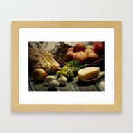 Fresh Pasta And Ingredie… Framed Art Print